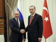 Russian President Vladimir Putin and his Turkish counterpart, Re ..