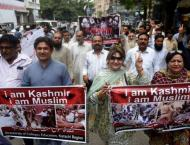 Rally express support for Kashmiris
