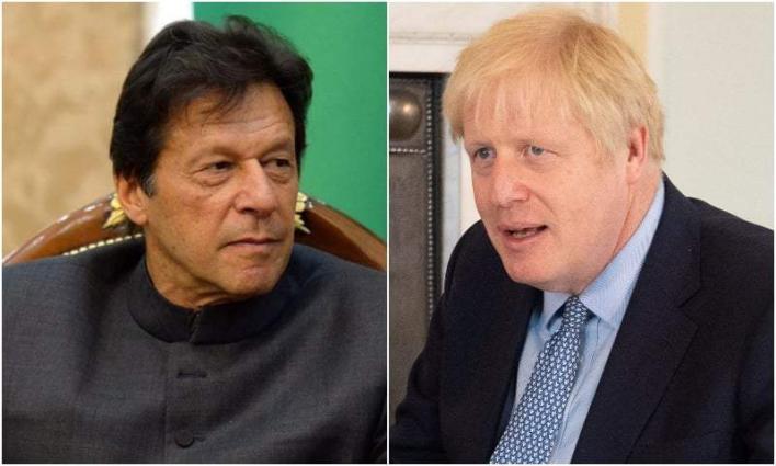 رئیس الوزراء البریطاني بوریس جونسون یتلقي اتصالا ھاتفیا من رئیس وزراء جمھوریة باکستان الاسلامیة عمران خان