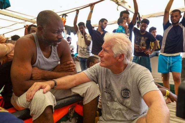 80 more migrants rescued as Richard Gere shines light on plight
