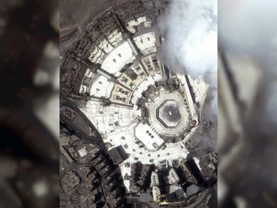 KhalifaSat captures image of Grand Mosque of Makkah during Eid Al Adha