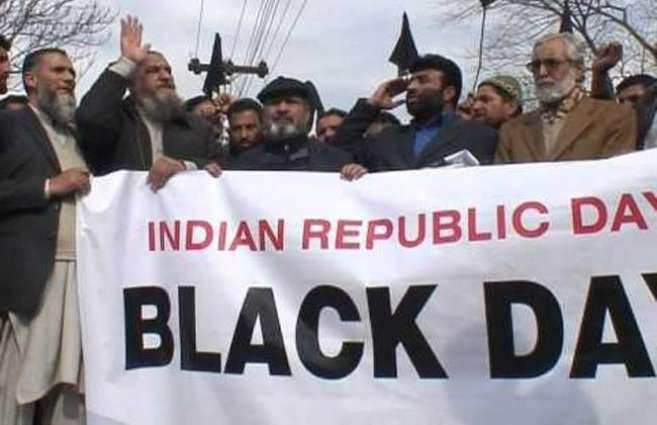 AJK observes  India's independence day as black day