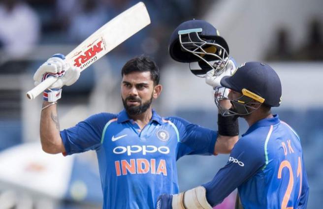 Kohli century leads India to victory over Windies