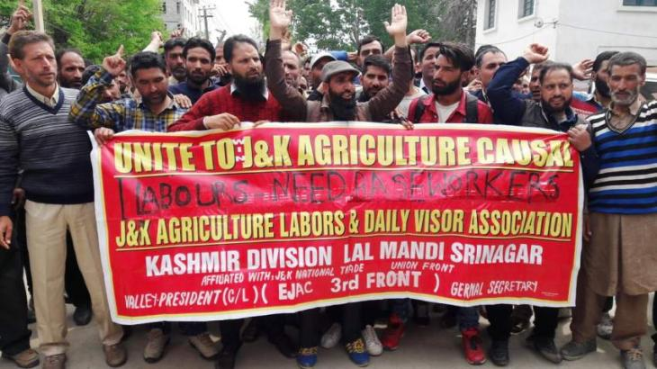 Education Dept's employees stage Kashmir rally