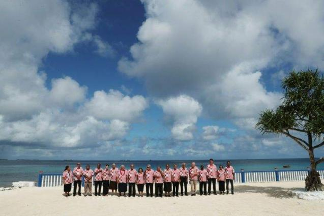 Tears and shouting as Australia dilutes Pacific climate warning