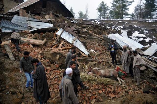 Seven people buried alive, two injured in land-sliding in AJK village