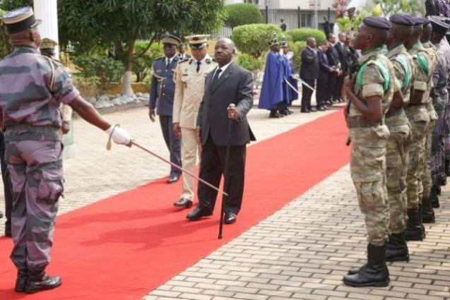 Gabon's Bongo attends independence parade in rare public appearance