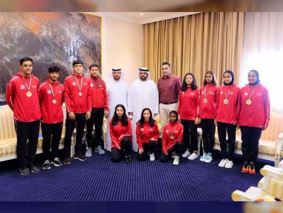 Fujairah CP receives Martial Arts Club players