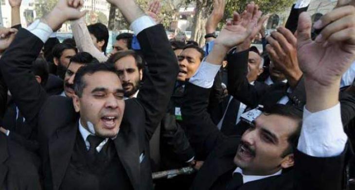 District Bar Association Dera Ghazi Khan observe strike over disappearance of lawyer