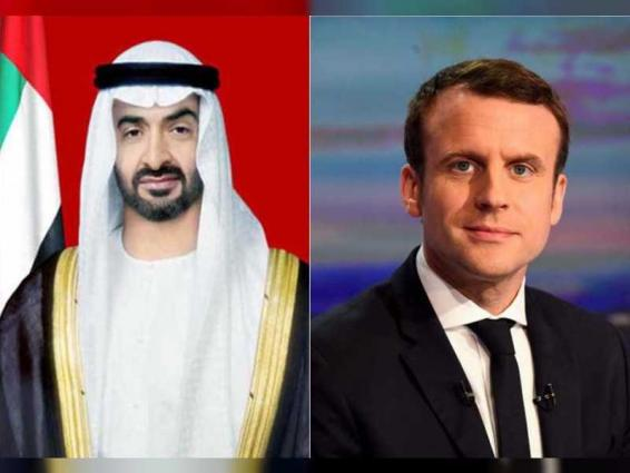 Mohamed bin Zayed, French President deliberating regional issues