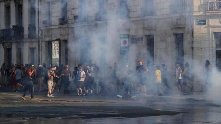 Police hose G7 protesters in south France as summit begins
