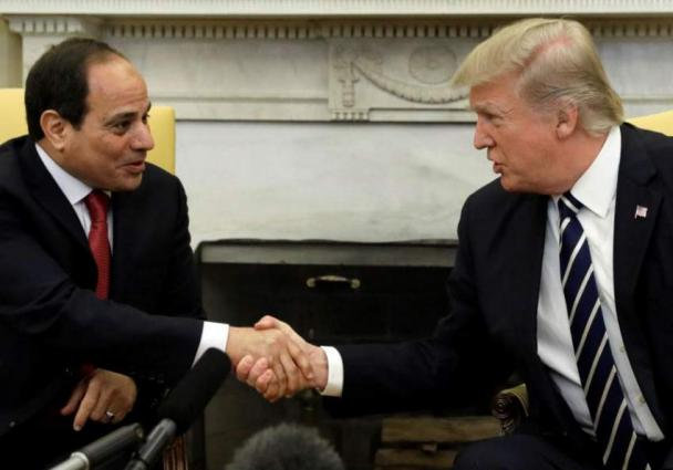 Trump, Egypt's Sisi Express Support for Unified Libya at G7 Summit