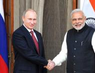 Russian President Vladimir Putin and Indian Prime Minister Narend ..