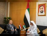 Hazza bin Zayed meets Iraqi Oil Minister