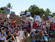 Schoolchildren throng streets in vast global climate strike