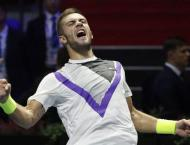 Coric reaches first final of year in Saint Petersburg