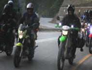CEAD welcomes Peace Motor Bikers Rally at Jamshoro