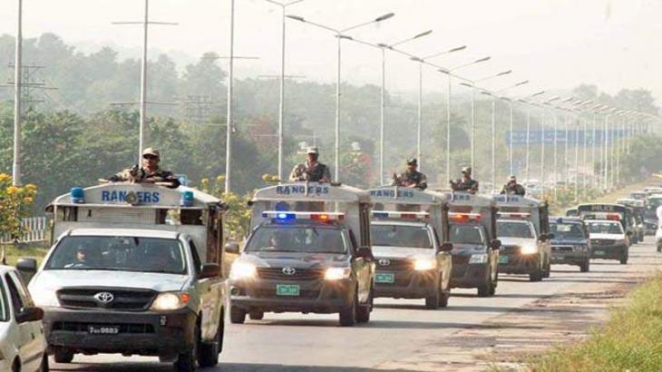 Islamabad Police Conducted Flag March - UrduPoint