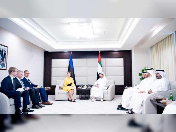 Hazza bin Zayed reviews development of ties with Estonian President