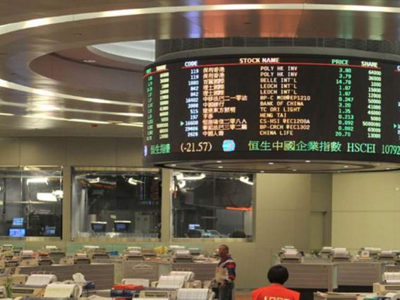 Hong Kong stocks finish morning with healthy gains