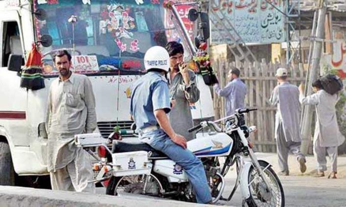 Heavy fine imposed on 156 vehicles in Multan