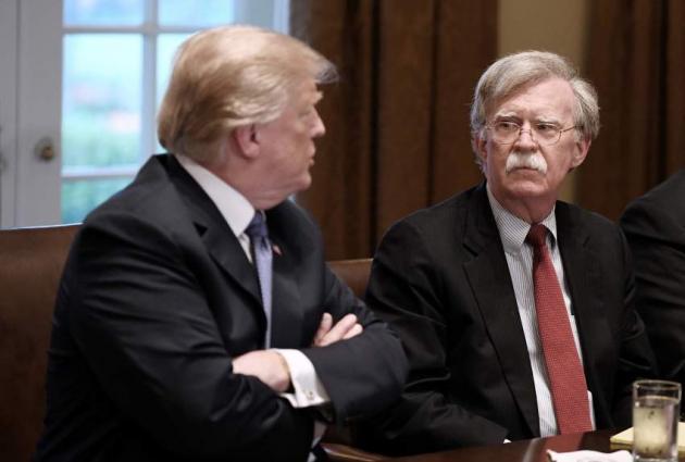 الرئیس الأمریکي دونالد ترامب یقیل مستشار الأمن القومي الأمریکي جون بولتون