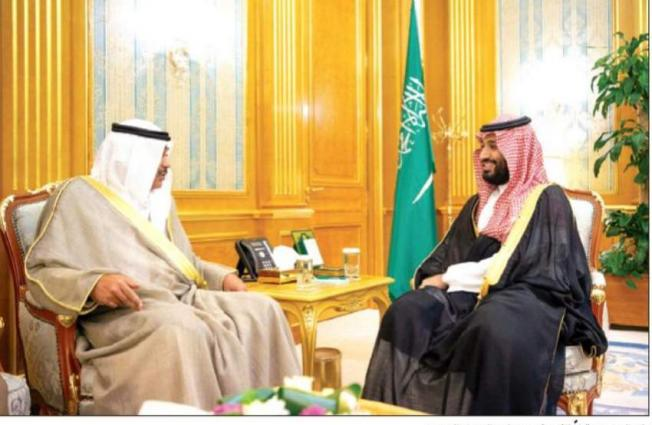 ولي العھد السعودي الأمیر محمد بن سلمان یستقبل وزیر الخارجیة الکویتي الشیخ صباح الخالد الحمد الصباح