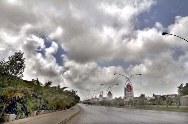 Partly cloudy weather forecast for Karachi