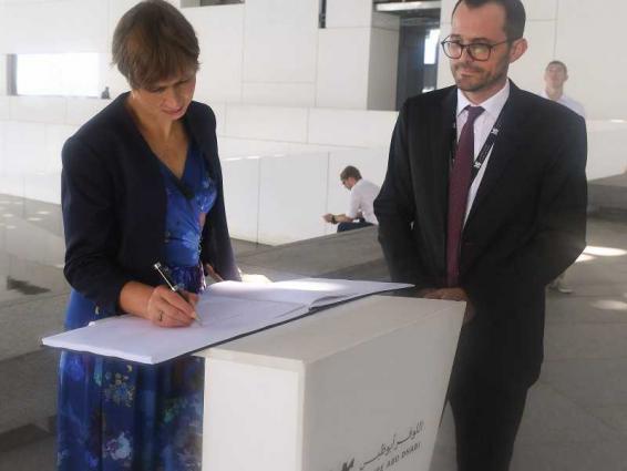 Estonia's President visits Louvre Abu Dhabi
