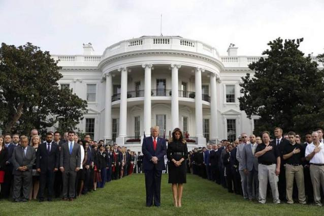 Trump Observes Moment of Silence 18 Years After September 11 Terrorist Attacks