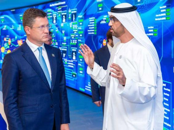 الرئيس التنفيذي لأدنوك يبحث مجالات وسبل التعاون مع وزير الطاقة الروسي