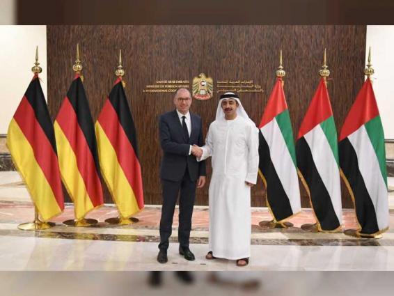 Abdullah bin Zayed receives German official