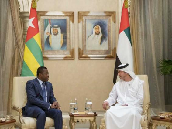 Hazza bin Zayed, President of Togo review relations