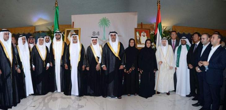 Saif bin Zayed attends Saudi National Day celebration