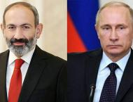 Russian President, Armenian Prime Minister Discuss CIS Summit Res ..