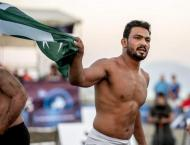 Pak world beach games gold medal winner Inam returns home