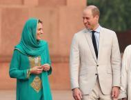Duke and Duchess of Cambridge visit Badshahi Masjid