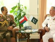 Chief of Staff Oman Armed Forces meets CNS Admiral Zafar