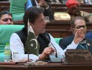 Prime Minister Imran Khan wears black armband to protest 75th day ..