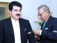 President, Senate chairman wear black ribbons to express solidari ..