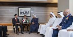 Hazza bin Zayed meets Japanese Defence Minister