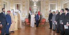 Japanese PM receives Hazza bin Zayed