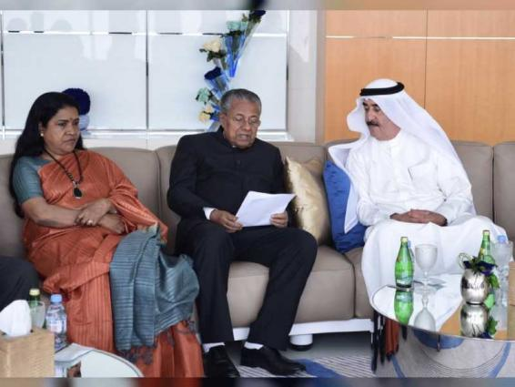 Image result for Ruler of Umm Al Qaiwain receives Chief Minister of Kerala