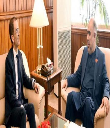 سفیر البرتغال لدي اسلام آباد یلتقي رئیس البرلمان الباکستاني أسد قیصر