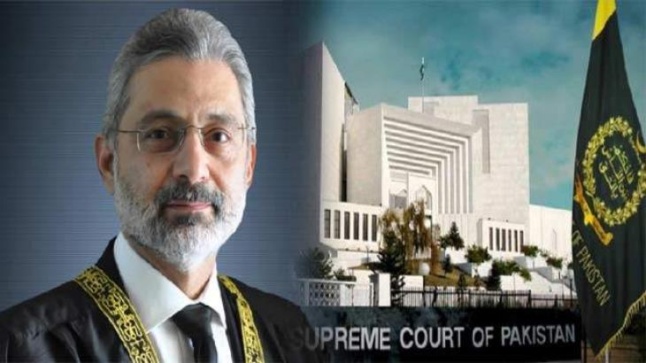 Supreme Court larger bench hearing Justice Qazi Faez Isa's petition dissolved