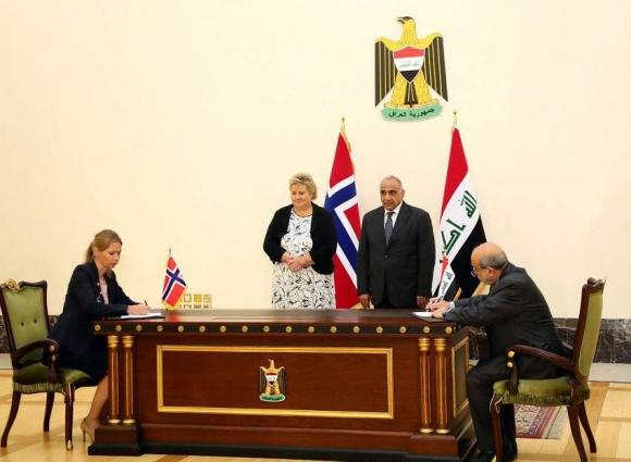 Iraqi, Norwegian Prime Ministers Renew Oil for Development Agreement Between Countries