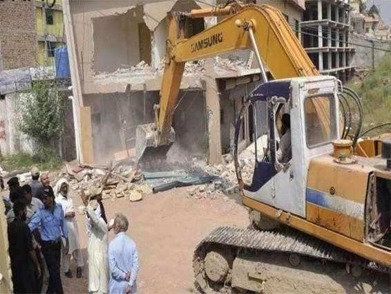 Capital Development Authority continues anti-encroachment drive; several illegal structures demolished