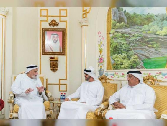 Mohamed bin Zayed visits Khalfan Matar Al Rumaithi