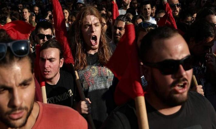 Police Clash With Demonstrators in Athens Protesting Repeal of University Sanctuary Law