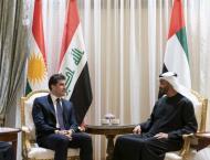 Mohamed bin Zayed, President of Kurdistan Region- Iraq deliberati ..